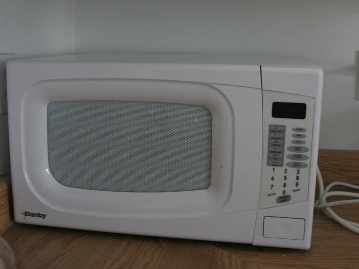 A microwave Costco $ 25!