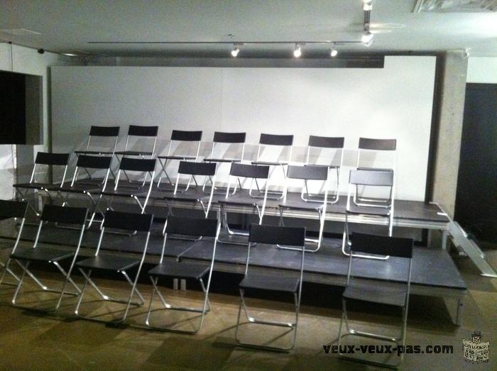 Équipements de scènes sonorisations, éclairages moniteurs, drums