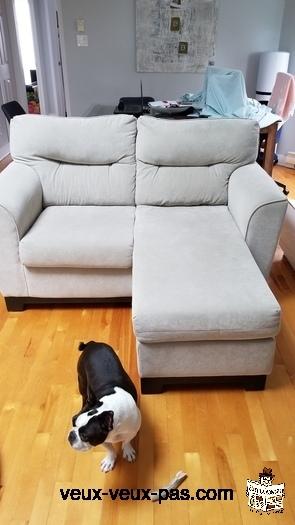 Causeuse et fauteuil
