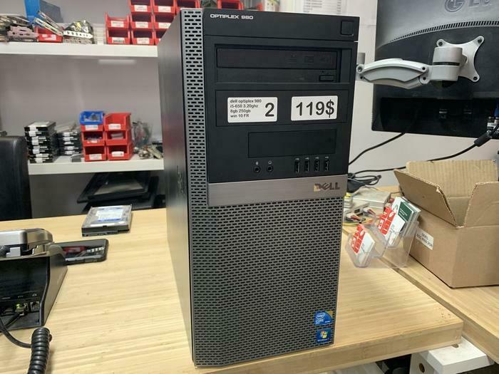 DELL OPTIPLEX TOUR 980 PC I5-650 8GB 250GB WINDOWS 10 DISPLAYPORT
