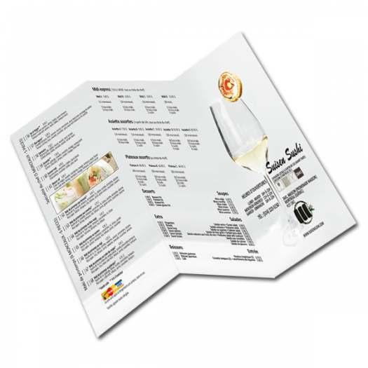 Imprimeur Cartes affaires laminées/ flyer / dépliant.