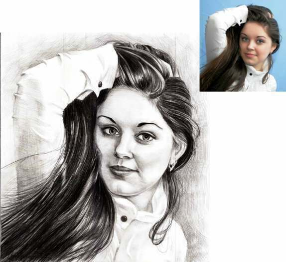 Portrait réaliste au crayon simple - cadeau à une occasion speciale!