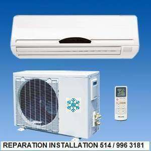 REPARATION THERMOPOMPE REFRIGERATEUR FOURNAISE CHAUFFAGE MONTREAL