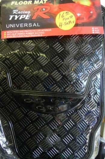 Tapis de voiture (ensemble de 4 tapis) Universal