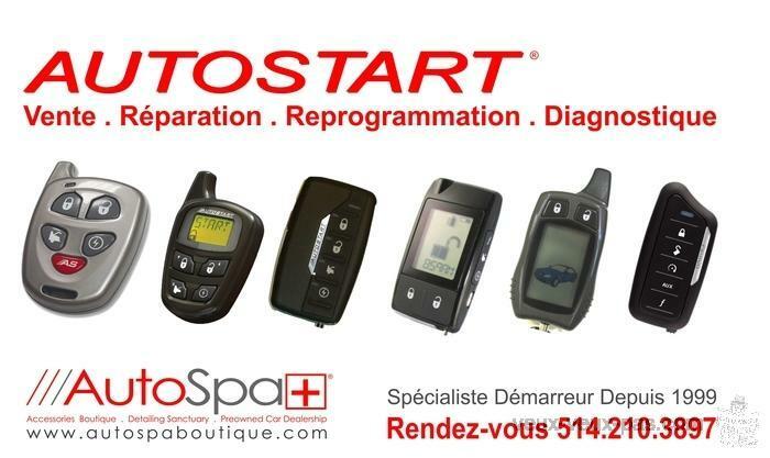 VENTE - INSTALLATION - REPARATION - REPROGRAMMATION DEMARREUR A DISTANCE 514 210 3897