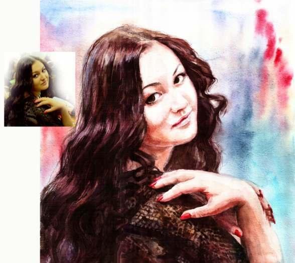 VOTRE PORTRAIT REALISTE à l'aquarelle sur papier!
